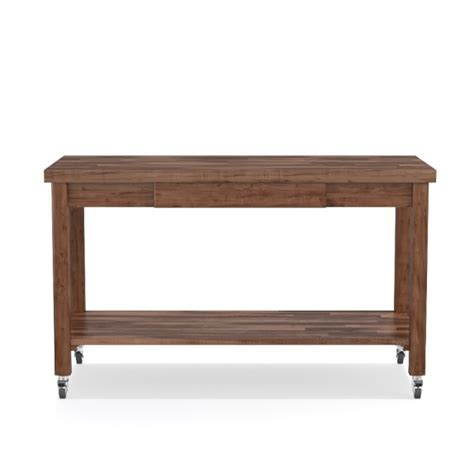 Boos Furniture by Boos Island With Drawer And Wood Shelf Walnut Williams