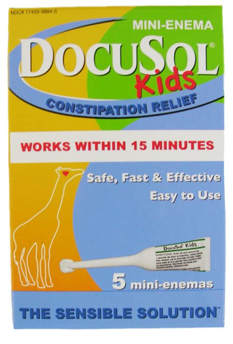 Kid Stool Softener by Docusol Stool Softener Constipation Relief
