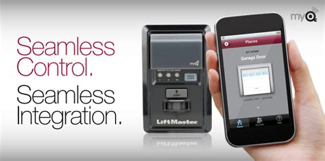 home automation liftmaster myq home connection system