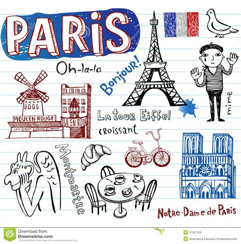 French Bistro Chair by France Symbols As Funky Doodles Stock Vector Image 51327753