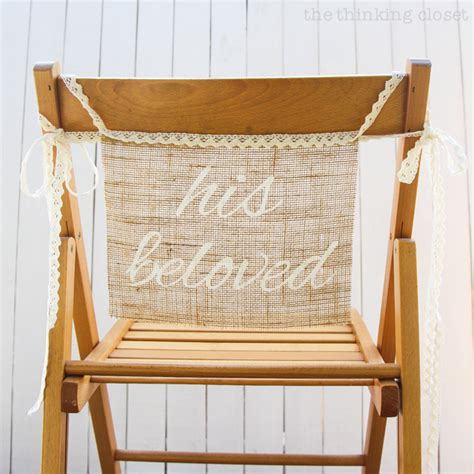 closet chairs diy burlap chair signs for the groom the