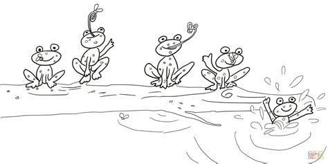 speckled frog coloring page 5 little speckled frogs coloring page free printable