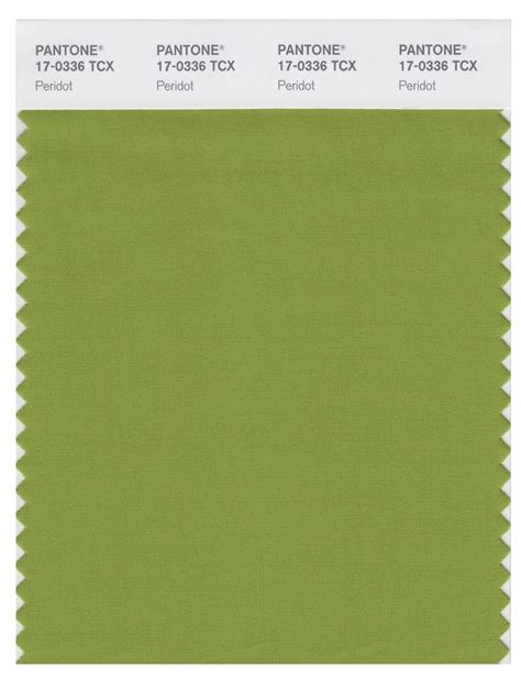 pantone smart   tcx color swatch card peridot
