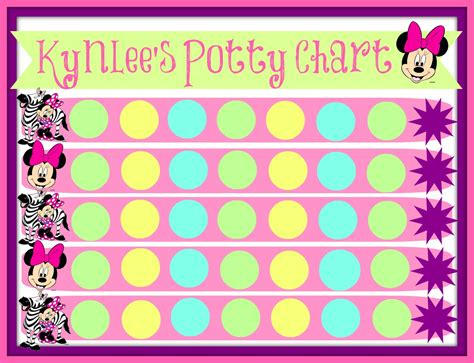potty reward chart template minnie mouse potty chart this has been working with