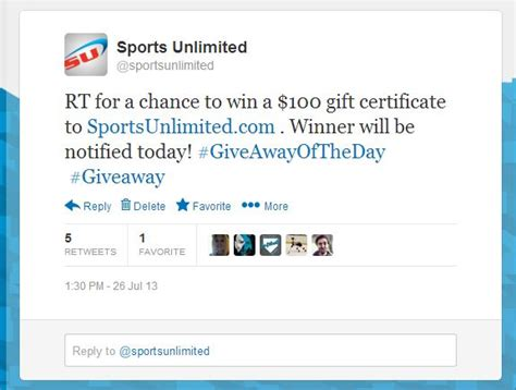 Giveaways On Twitter - we re on twitter with giveaways sports unlimited blog