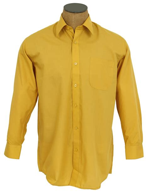 solid color shirts s solid color cotton blend dress shirt mustard
