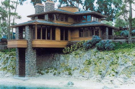 Frank Lloyd Wright Style House Plans by Prairie Modern House Plans Search The Williams