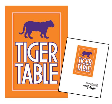 clemson tigers tailgate table football tailgate spread printables part 1