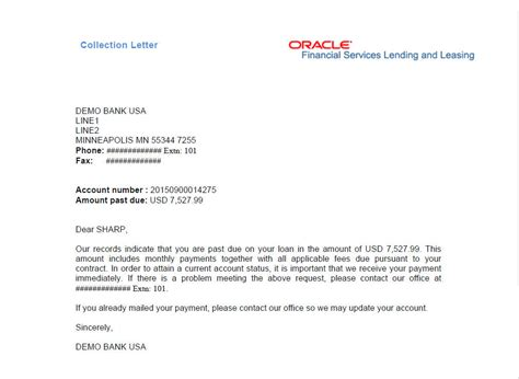 Customer Collection Letter Sle 4 Customer Service