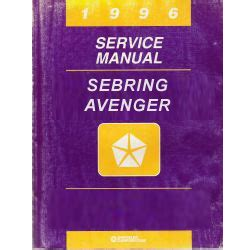 1996 chrysler dodge sebring and avenger fj22 service manual