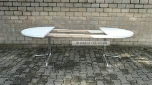 thonet tisch rund ausziehbar thonet tisch holztisch chrom 70er konferenztisch esstisch