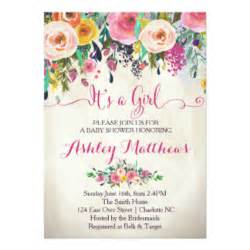 floral baby shower invitations announcements zazzle