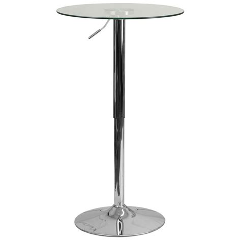 glass highboy table with adjustable height r products