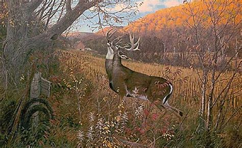 Paint By Number Wall Murals For Adults quot october ritual whitetail deer quot by michael sieve