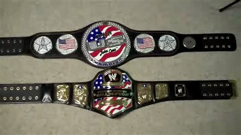 V Belt Spin united states chionship vs cena s united states spinner replica belt comparison