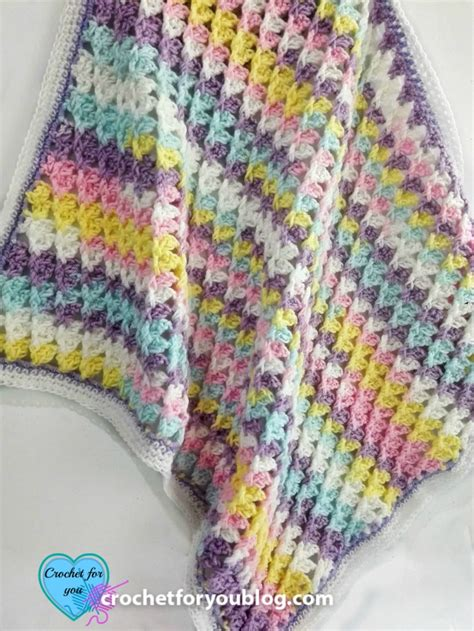 How To Crochet A Blanket by Pastel Peaks Crochet Baby Blanket Free Pattern Crochet