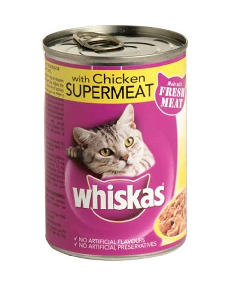cat food whiskas supermeat cat food with chicken 390g