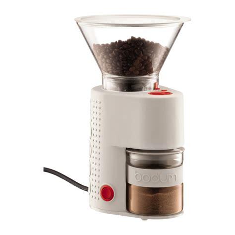 Electric Grinder Coffee Bistro Electric Coffee Grinder White Bodum