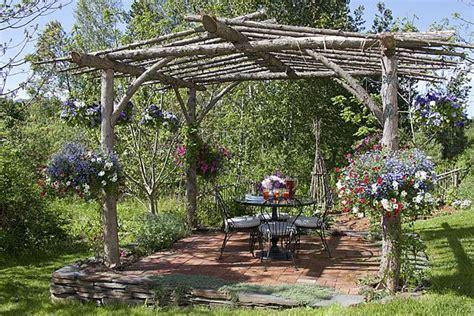 rustic pergola   vermont garden rustic pergola