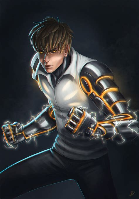 wallpaper anime opm genos opm by veelocity on deviantart