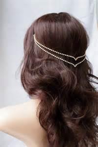 hair chains chain hair jewellery wedding accessory