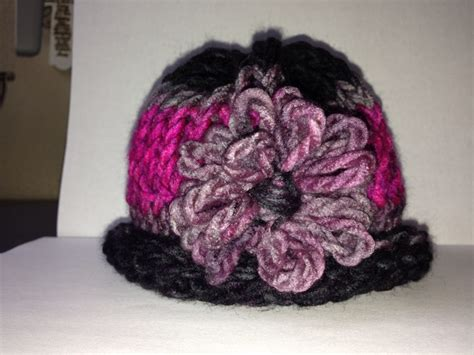 how to knit flowers for baby hat loom knit baby hat with flower all about yarn
