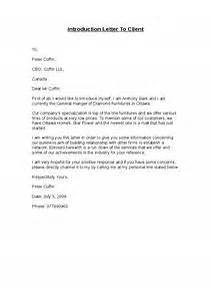 introduction letter template to client letter of