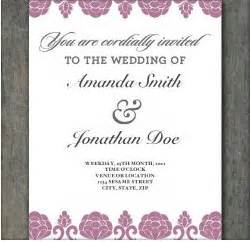 print your own wedding invitations templates print your own invitations template best template collection