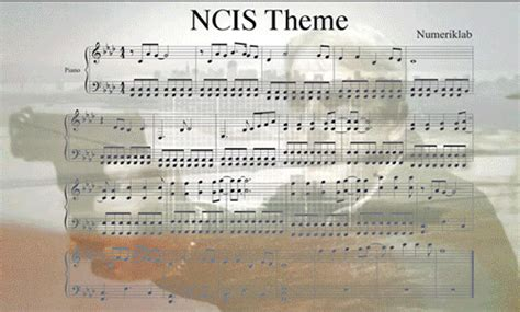 theme song ncis ncis theme sheet musicinspired by x