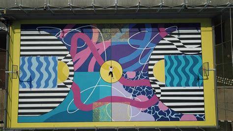 seniman bandung sulap lapangan basket jadi lukisan mural