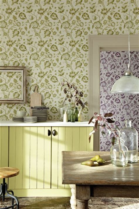 wallpaper ideas for kitchen wallpaper kitchen designs shabby chic wallpaper ideas houseandgarden co uk