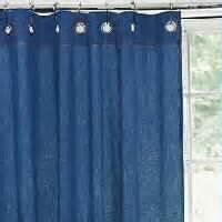 washed denim shower curtain