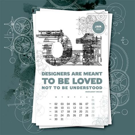 human design calendar 30 creative colorful inspiring 2012 calendar designs
