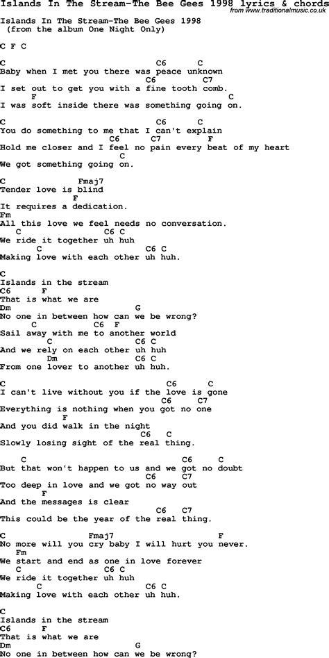 Bee Gees Guitar Chords