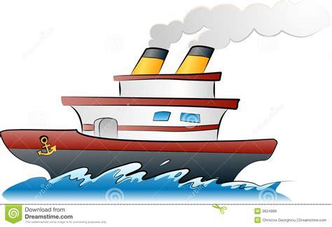 cartoon boat sound ship illustration royalty free stock image image 3624886