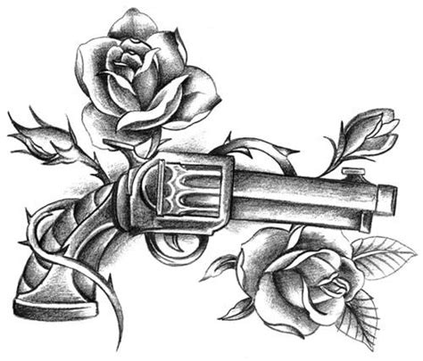 gun with rose tattoo gun and roses ideas guns