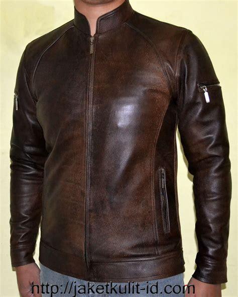 Jaket Motor Kulit Simple Model Hitam model jaket kulit soreang jual harga jaket kulit murah