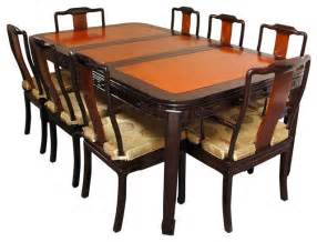 rosewood dining room set two tone asian dining sets