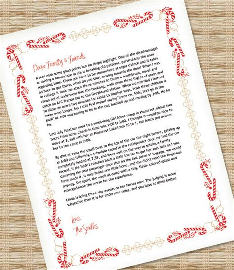 christmas letter template for ms word download print