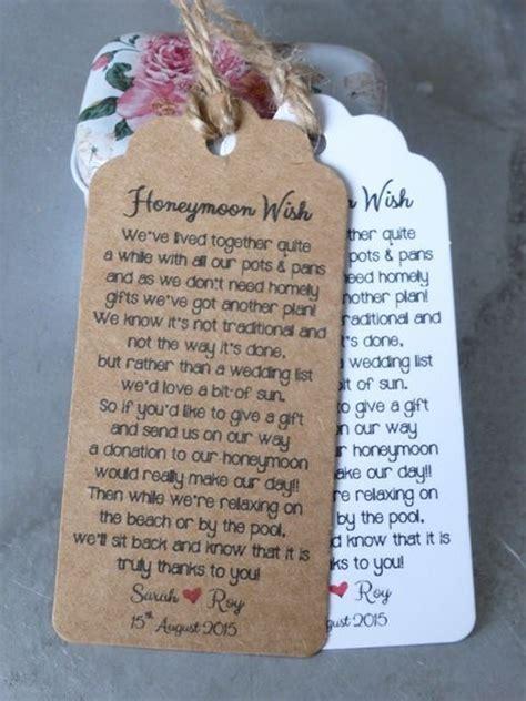 Details about Wedding Honeymoon Fund Money Request Poem