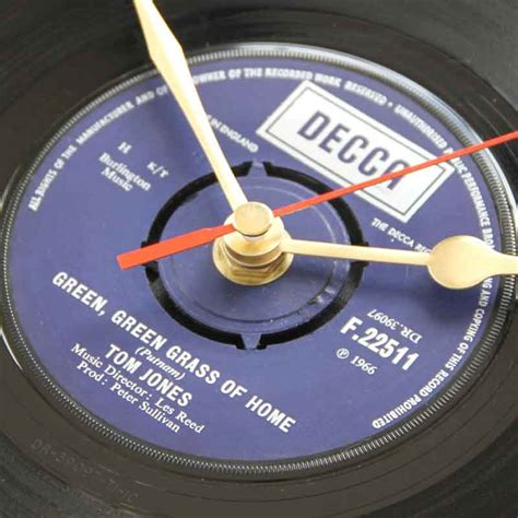 Tom Green Records Tom Jones Green Green Grass Of Home Vinyl Clocks