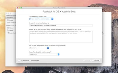 apple feedback don t like something in os x yosemite let apple know with