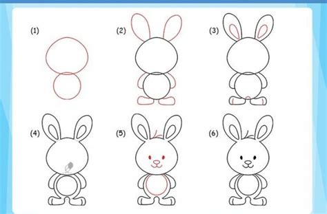 doodle draw easter bunny tag for bunny drawing step by step how to draw a rabbit