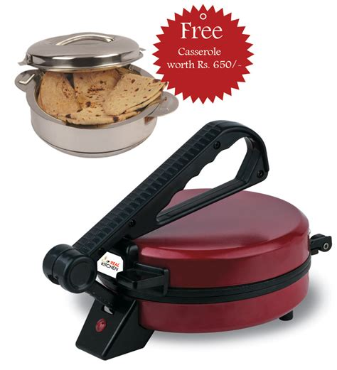 design of roti maker real kitchen roti maker with free casserole rs 1199