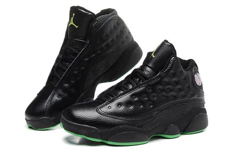 air jordan 13 men c air jordan 13 retro men black green 310810 030 green shoes