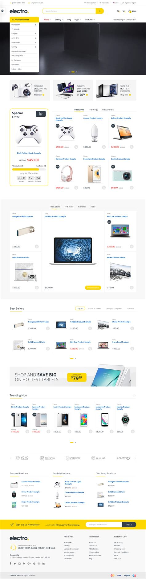 shopify themes for single product top 5 shopify themes for gadgets digital store