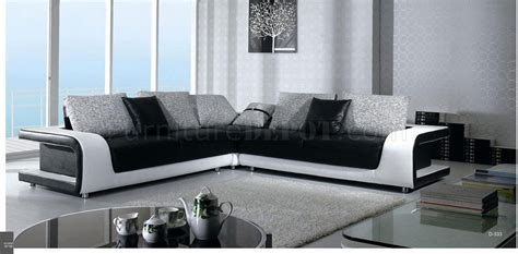 black and white leather sofa b333 black white leather and fabric sectional sofa