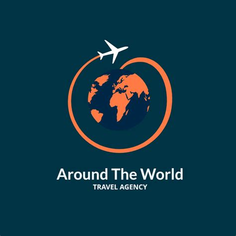 Around The World For Free free around the world travel agency logo design maker