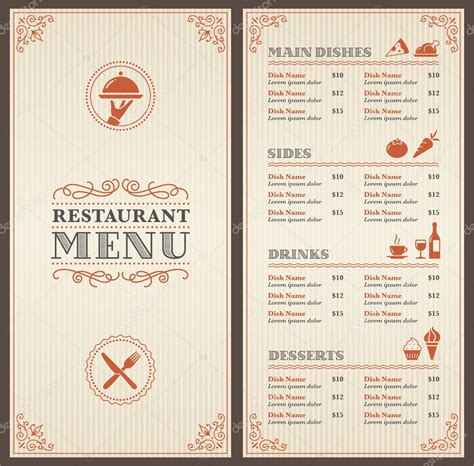 14 Free Menu Designs Exles Psd Ai Restaurant Menu Design Templates