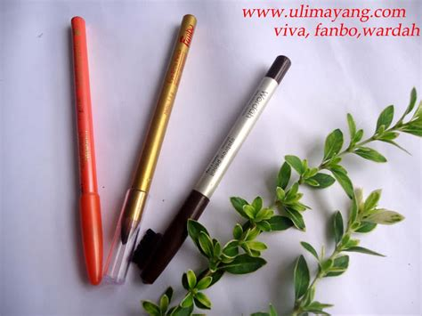 Eyeliner Pencil Warna Putih Viva uli mayang review viva wardah dan fanbo pensil alis coklat eye brown pencil